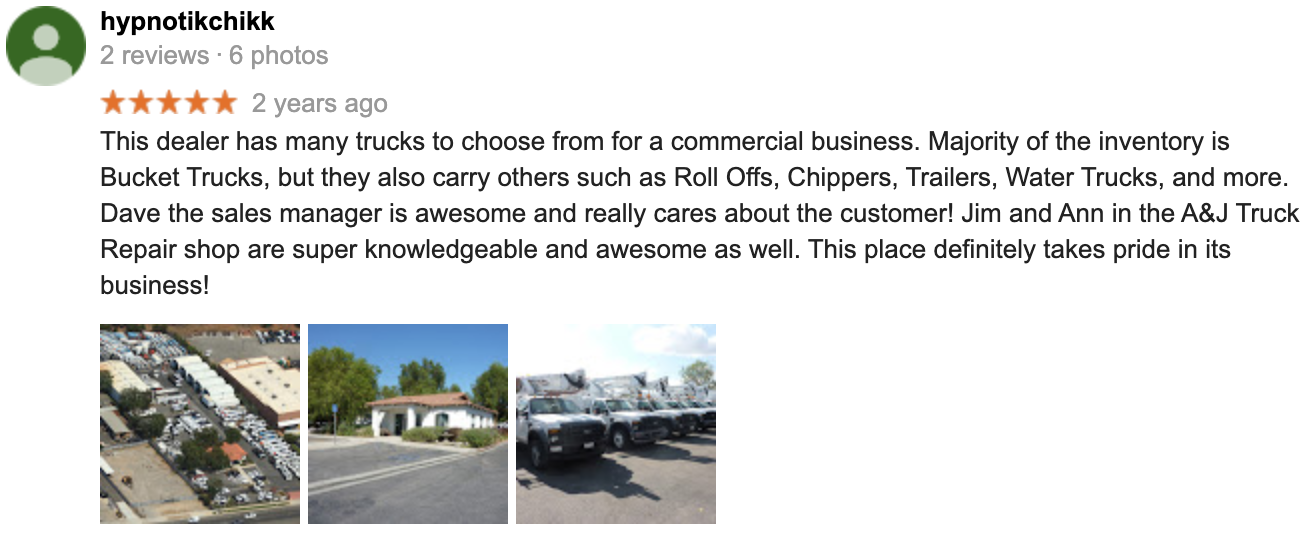 Commerce Truck & Equipment Sales review from Carol